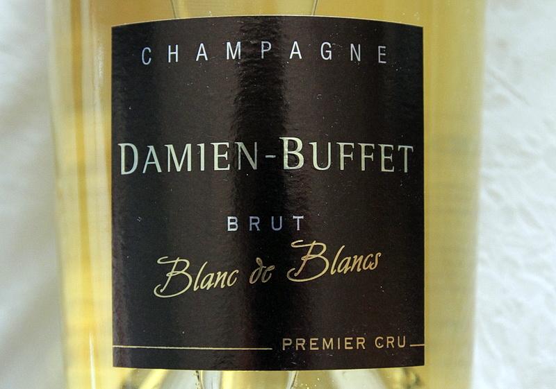 bouteille de champagne premier cru brut blanc de blancs damien buffet a sacy
