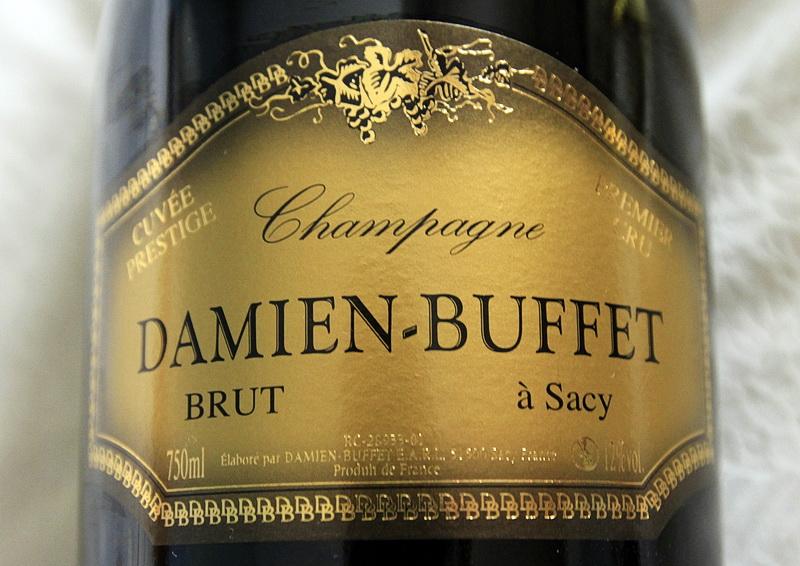 bouteille de champagne premier cru brut prestige damien buffet a sacy