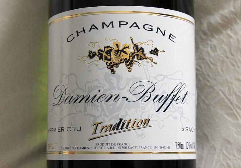 bouteille de champagne premier cru brut tradition damien buffet a sacy
