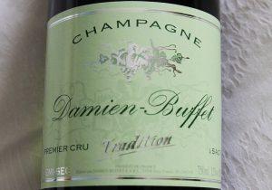 bouteille de champagne premier cru demi sec tradition damien buffet a sacy